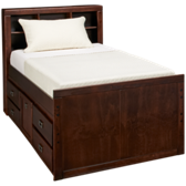 Twin Captain Pedestal Bed