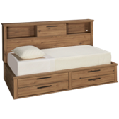 Dexifield Twin Bookcase Storage Bed