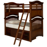 Classics 4.0 Twin over Twin Bunk Beds with Storage Unit