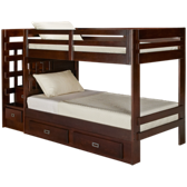 Bunk Bed with Storage Stairs and Underbed Storage