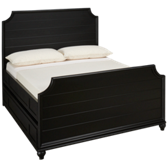 Midnight Full Trundle Storage Panel Bed