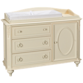 3 Door 1 Drawer Dresser with Changing Station