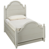 Twin Low Poster Panel Bed with Trundle