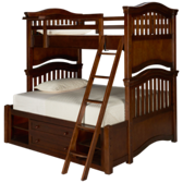 Classics 4.0 Twin Over Full Bunk Beds with Storage Unit