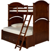 Impressions Twin Over Full Bed with Storage
