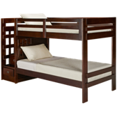 Twin Bunk Bed with Storage Staircase