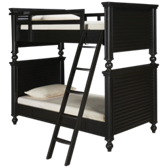 Black & White Twin Over Twin Bunk Beds