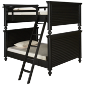 Black & White Full over Full Bunk Beds