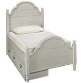 Twin Low Profile Panel Bed with Underbed Storage Drawer