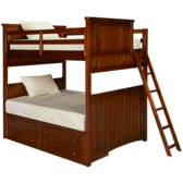 Full over Full Bunk Bed with Underbed Storage