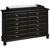 Midnight Map Drawer Dresser with Changing Station