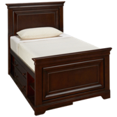Classics 4.0 Twin Panel Bed with Storage Unit