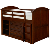 American Spirit Twin Loft Bed with Storage