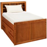 Twin Captain's Pedestal Bed