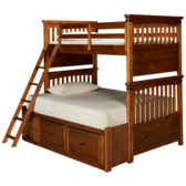 Bryce Canyon Twin over Full Bunk Bed with Underbed Storage