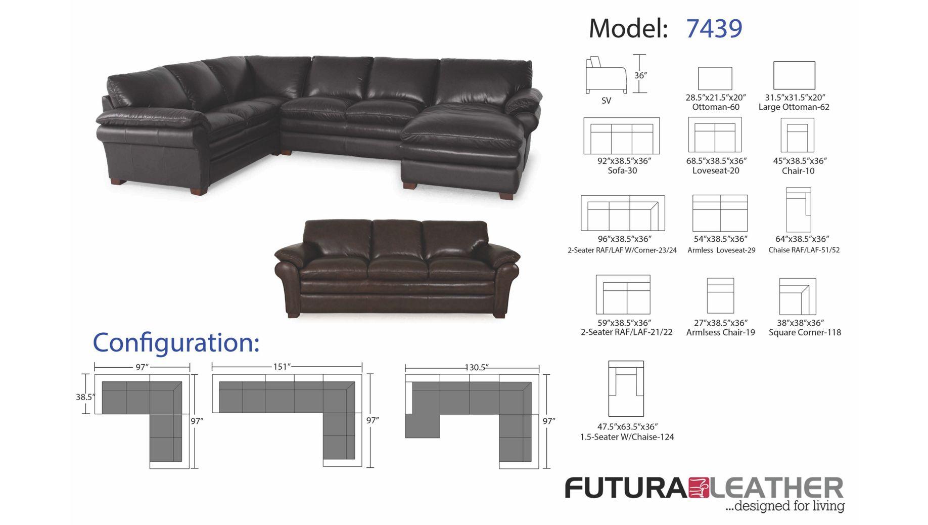100 Futura Furniture Leather Sofa