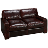 Brompton Leather Loveseat