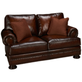 Foster Brindisi Leather Loveseat