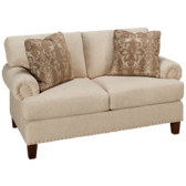 UE Roll Arm Loveseat with Nailhead