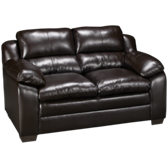 Bonded Leather Loveseat