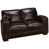 Aspen Leather Loveseat