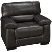 Gun Metal Leather Chair