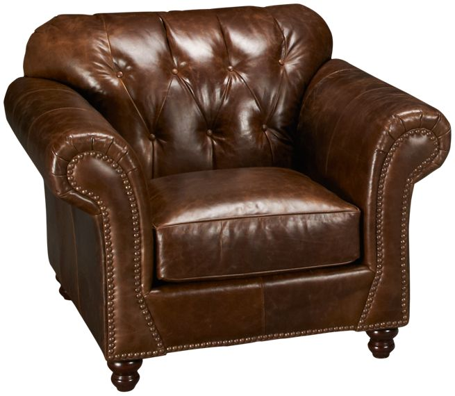 Klaussner Flynn Leather Chair Jordan s Furniture
