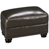 Charleston Leather Ottoman
