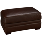 Homestead Leather Ottoman