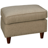 UE Small Scale Ottoman with Nailhead