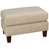 UE Roll Arm Ottoman with Nailhead