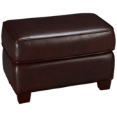 Sock Arm Leather Ottoman