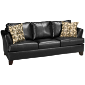 Bonded Leather Queen Sleeper Sofa Without Mattress