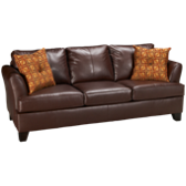 Bonded Leather Queen Sleeper Sofa with Memory Foam Mattress