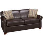Bonded Leather Full Sleeper Loveseat