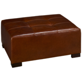 Outback Leather Accent Cocktail Ottoman