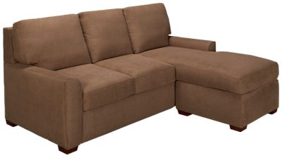 American Leather Kayln American Leather Kayln Queen Sleeper Sofa Plus Left  Arm Chaise/Storage Ottoman   Jordanu0027s Furniture