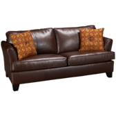Bonded Leather Full Sleeper Sofa with Memory Foam Mattress