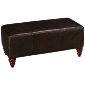 Weston Leather Cocktail Ottoman