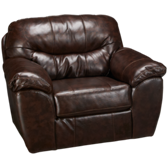 Bonded Leather Chair & 1/2