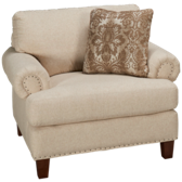 UE Roll Arm Chair And a 1/2 with Nailhead