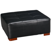 Bonded Leather Cocktail Ottoman