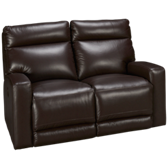 Mercier Leather Loveseat Recliner