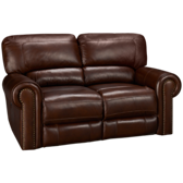 Leather Power Loveseat Recline