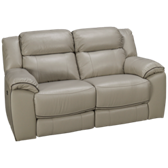 Adelino Leather Power Loveseat Recliner