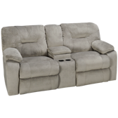 Power Loveseat Recliner with Console