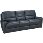 Blue Leather Power Sofa Recliner