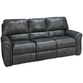 Leather Power Lay Flat Reclining Sofa