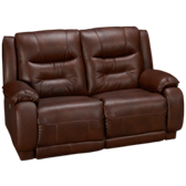 Cresent Power Loveseat Recliner with Power Headrest