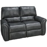 Marcus Leather Power Lay Flat Reclining Loveseat (also available in Sunbrella)